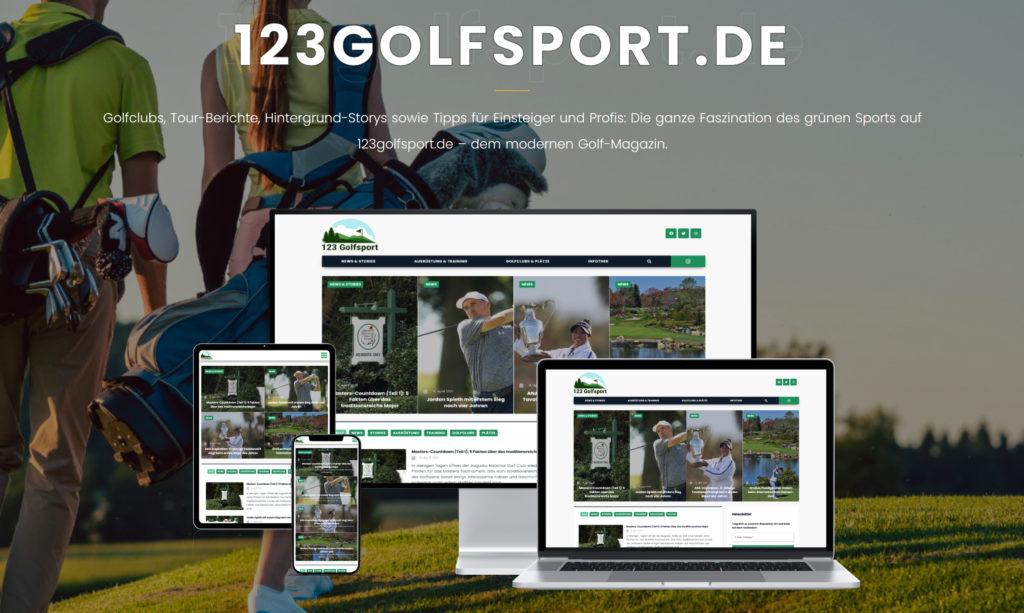 Screenshot von 123golfsport mit mobile devices